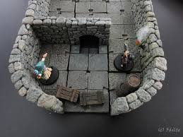 3d Dungeon Tiles Dwarven Forge by Dwarven Forge Compatible Downward Stairs By Fáilte Dwarven Forge