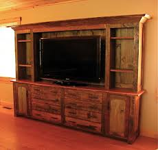 Image Of Wooden Rustic Entertainment Centers