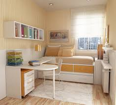 best small bedroom layout design with nice wallpaper stripes
