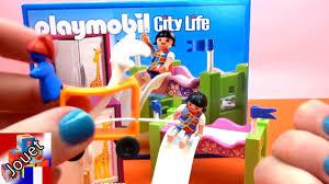 playmobil chambre bébé playmobil 5579 chambre à coucher d enfant avec un lit en hauteur
