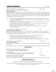 Sample Resume For Restaurant General Manager Release Managed Cv Template Uk