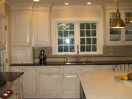 Outstanding Cream Kitchen Cabinets With Black Granite Countertops 61 For Your Hme Designing Inspiration