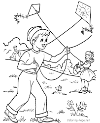 Spring Coloring Pages KITE