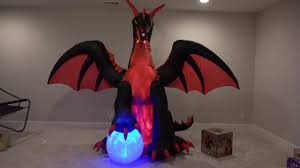 Halloween Airblown Inflatable Lawn Decorations by Gemmy Halloween Airblown Inflatable Red Dragon With Orb Lowes New