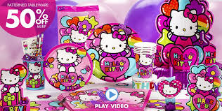 Pink And Gold Birthday Decorations Canada by Hello Kitty Party Supplies Hello Kitty Birthday Ideas Party City