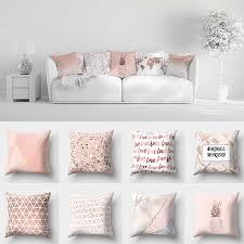 gold rosa kissen abdeckung platz kissen hause dekoration geometrische muster glänzend kissen abdeckungen kissen
