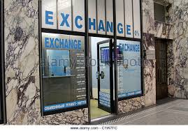 exchange bureau de change exchange change shop stock photos exchange