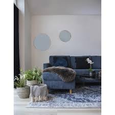 hawai teppich 200x300 cm blau design läufer wohnzimmer esszimmer modern