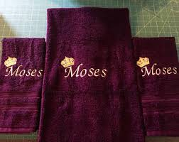 Purple Decorative Towel Sets by Towel Embroidery Etsy