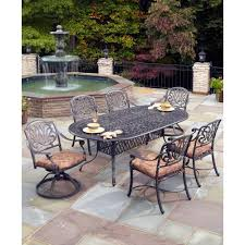 Patio Dining Sets Home Depot by Hampton Bay Middletown 7 Piece Patio Dining Set With Chili