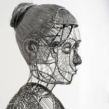 Working With Varying Weights Of Iron Wire Italian Artist Roberto Fanari Constructs Life Size Figurative Sculptures Both People And Animals Applying The