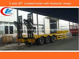 100 Heavy Duty Truck Service Ramps China 3Axle 50ton60ton Lowbed Trailer China Low