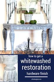 Get A Restoration Hardware Look With Whitewash Furniture