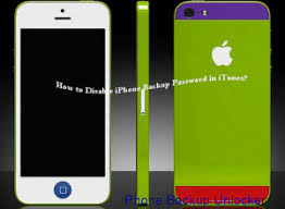 How to Disable iPhone 5 4S 4 Backup Password