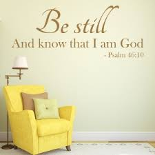 Be Still Wall Sticker Bible Verse Decal Christianity Religion Home Decor