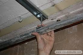 pose rail placo plafond travaux à la cave ciloubidouille