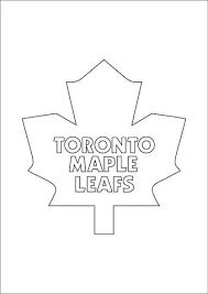 Click To See Printable Version Of Toronto Maple Leafs Logo Coloring Page