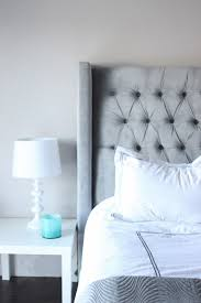 Skyline Tufted Wingback Headboard King by Bedroom Gray Velvet Headboard Combined Tufted Footboard And