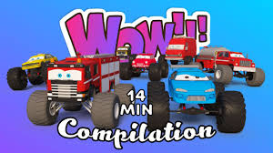 Monster Trucks For Children | Car Challenge 3d | Trucks Cartoon ... 100 Bigfoot Presents Meteor And The Mighty Monster Trucks Toys Truck Cars For Children Cartoon Vehicles Car With Friends Ambulance And Fire Walking Mashines Challenge 3d Teaching Collection Vol 1 Learn Colors Colours Adventures Tow Excavator The Episode 16 Tv Show Monster School Bus Youtube