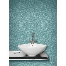 Metallic Tile Effect Wallpaper by Tile Effect Bathroom Wallpaper