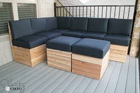 Magnificent Wood Patio Sectional Diy Modular Outdoor Seating Shanty 2 Chic