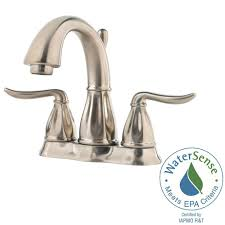 Home Depot Bathroom Faucets by Pfister Sedona 4 In Centerset 2 Handle Bathroom Faucet In Brushed