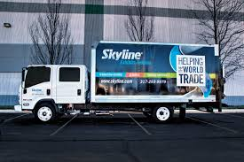 Skyline Box Truck Fleet Graphic—The Sky Is The Limit - TKO Graphix