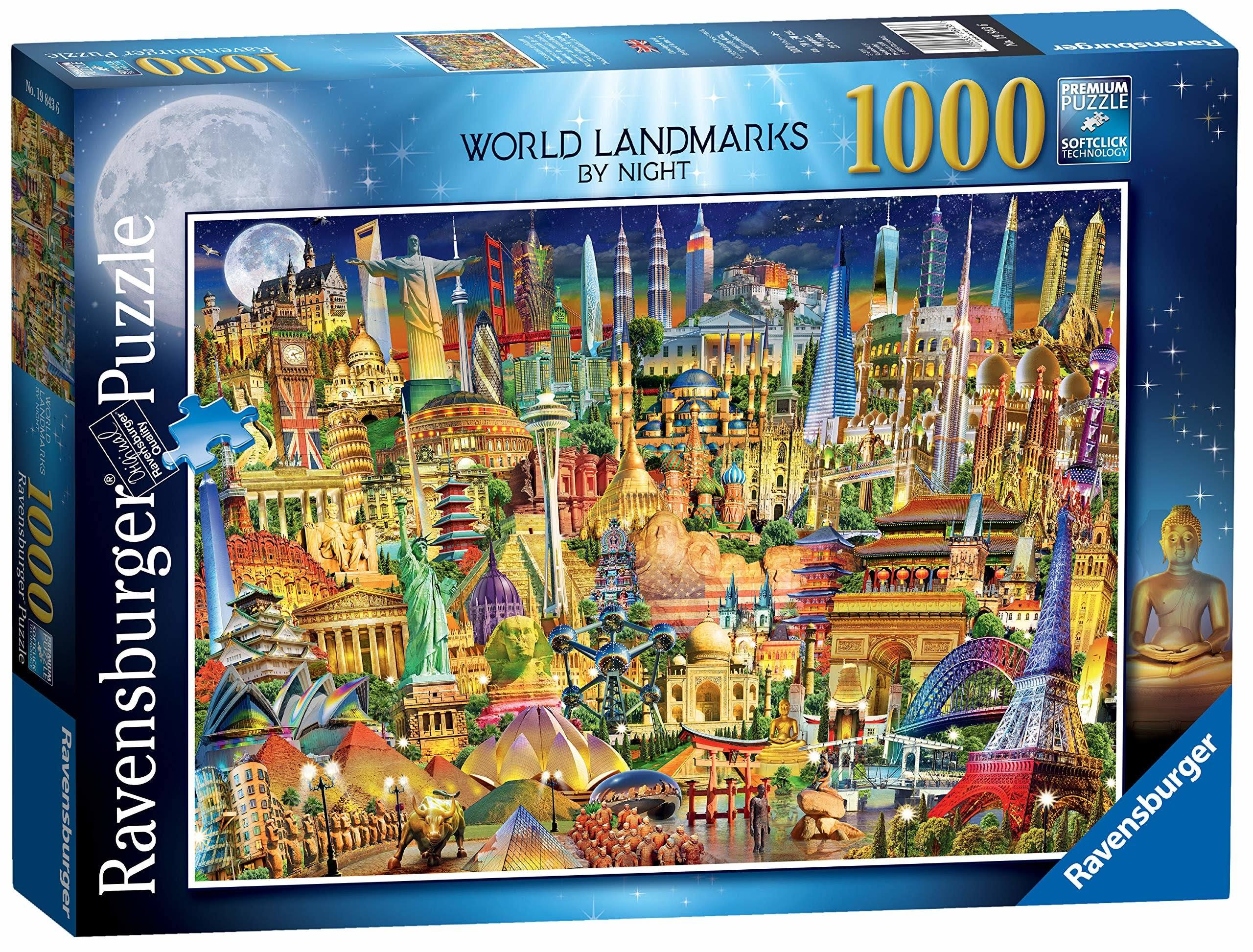 Ravensburger Jigsaw Puzzle - World Landmarks by Night, 1000pcs