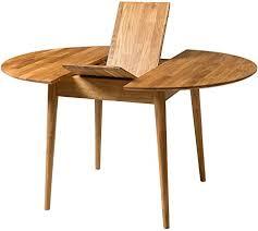 nordic story esstisch escandi 3 ausziehbar rund 100 130 cm massivholz eiche ideal für küche wohnzimmer terrasse möbel design nordic color
