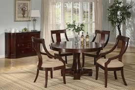 Deep Cherry Finish Clic Dinning Room W Round Dining Table