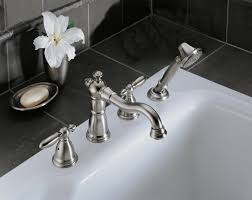 Delta Floor Mount Tub Filler T4797 by Victorian Bathroom Collection