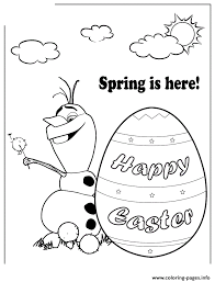 Disney Frozen Olaf Spring Easter Colouring Page Coloring Pages Print Download