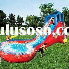 Kids Loves Inflatable Single Lane Pool Slide