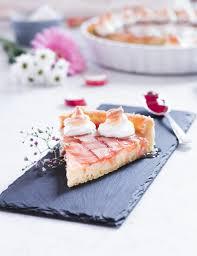 rhabarber tarte mit vanillecreme baiser küchenmärchen