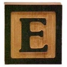 E Block Text E is for Eaton Pinterest