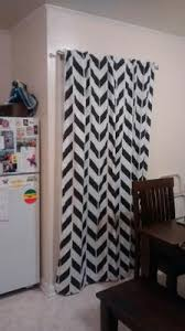 Grey And White Chevron Curtains Walmart by Mainstays Chevron Polyester Cotton Curtain With Bonus Panel