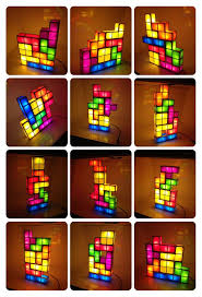Tetris Stackable Led Desk Lamp India by Tetris Diy Constructible Retro Game Style Stackable Led Desk Lamp