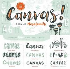 Canvas Complete Font Family From Yellow Design Studio Included In The DesignCuts Bundle