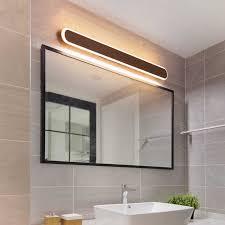 badezimmer kommode spiegel licht kaffee farbe moderne