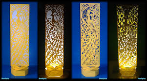 Laser Cut Lamp Shade by Paper Cut Lamp Fancy Bird Youtube
