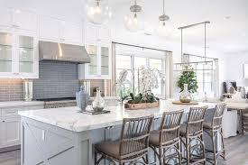 white kitchen with gray glass backsplash cottage kitchen