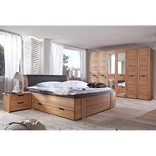 schlafzimmer set mit bett 200x200 cm kernbuche teilmassiv