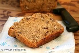 Vegan Banana Nut Bread with Maple Syrup Recipe