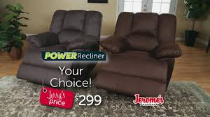 Chateau Dax Leather Sofa Macys by Jerome U0027s Furniture Bigger Easy Power Recliner 299 Youtube