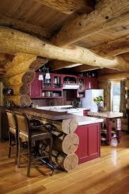 Rustic Log Cabin Kitchen Ideas by Simple U0026 Beautiful Red Rustic Cabin Kitchen Make Mine Rustic
