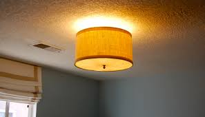 diy drum shade ceiling light cover home lighting design ideas