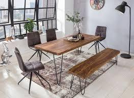 wohnling massivholz sheesham esstisch bagli 120 x 80 x 76 cm küchentisch massiv neu