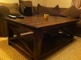 Endearing Rustic Coffee Table DIY With Ana White X Diy Projects