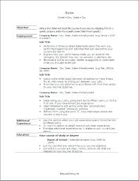 Pattern Of Resume For Job Good Layout Example Examples Format