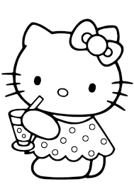 Click To See Printable Version Of Hello Kitty Summer Coloring Page